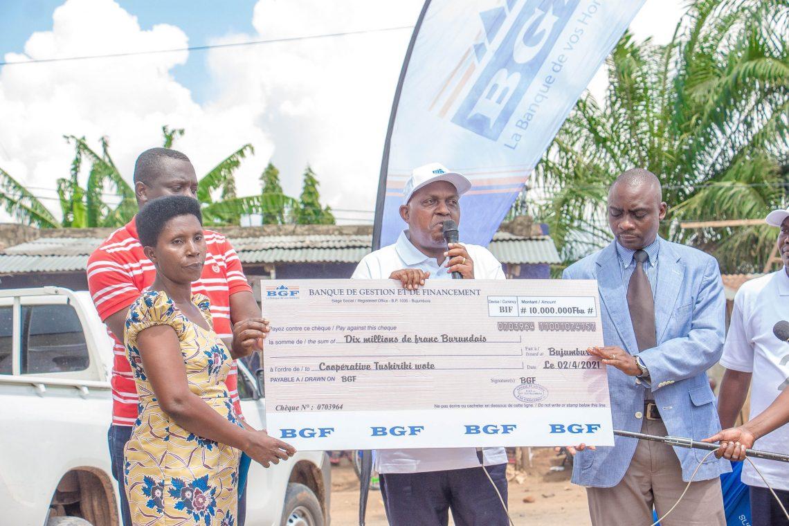 Visite de la BGF à la coopérative TUSHIRIKI WOTE dans la Zone Gatumba en Commune Mutimbuzi